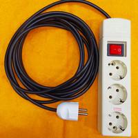 Stop Kontak 3 Lubang Saklar Uticon dengan Kabel 5mtr Eterna dan Broco