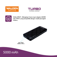 Walden Turbo Power Bank 5000Mah TPB05