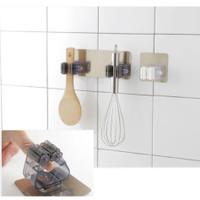 perekat sapu pel gantungan dinding hanger dapur kamar mandi jepit kuat