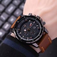 jam tangan pria swiss army chrono Variasi ok - Coklat Muda