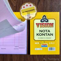 Buku Nota Kontan Kecil Rangkap 2 ply NCR / K2 - 25 Lembar @ 2 Rangkap