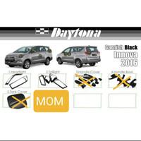 Paket garnish lampu depan belakang black daytona Innova Reborn