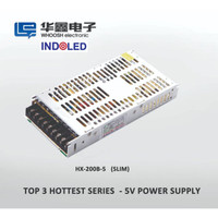 Power Supply 5V 40A WHOOSH Super SLIM 3CM (High Quality)