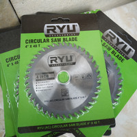 RYU Circular Saw Blade 4 inch x 40 T - Mata Pisau Potong Kayu