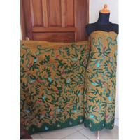 Kain Batik Tulis Madura Flora Kunyit Mustard