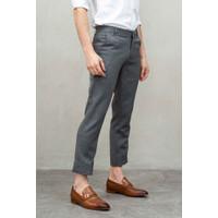 Houseofcuff Celana Ankle / Cropped Pants Slimfit kerja Sirwal Abu muda