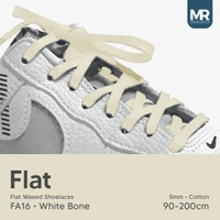 Tali Lilin Gepeng (Finest) 5mm 100cm Aneka Warna Untuk Sepatu Sneakers