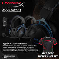 HyperX Cloud Alpha S 7.1 Surround Sound - Gaming Headset - Hitam