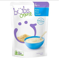 bubs organic baby rice cereal bubur 125gr