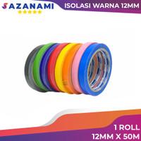 lakban isolasi warna 12mm x 50M sazanami selotip solatip warna