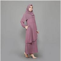 Baju Gamis Dress Wanita Muslim Bahan Wollycrepe Busui Size XS-S-M-L-XL