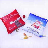 GRATIS NAMA Sarung Bantal Sofa Cushion Cover Custom Kado/Hadiah Natal