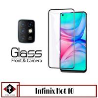 Tempered Glass Layar INFINIX HOT 10 + Anti Gores Lens Camera