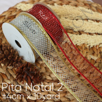 Pita Natal 2 ±4cm x 10yard -Pita kado -Hamppers -Pita motif -Xmas