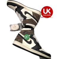 Sepatu Nike Air Jordan 1 High Og Dark Mocha Sneakers Pria Basket