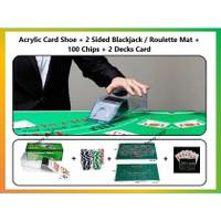 Blackjack Game Set (Bundle / Paket 4 item) Poker Roulette Kartu Remi
