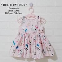 Dress Katun Anak Hello Cat Kitty