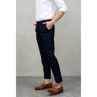 Houseofcuff Celana Ankle / Cropped Pants Slimfit Sirwal Biru Navy - 35
