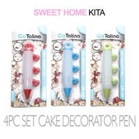 CaTalina 4Pcs Set Cake Decorator Pen | 4 Pcs Set Kue Dekorator Pena
