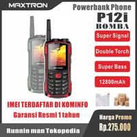 MAXTRON P12 BOMBA - HP Antena - HP Powerbank - Bluetooth Speaker - HP - Merah