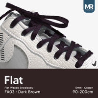 Tali Lilin Gepeng (Finest) 5mm 180cm Aneka Warna Untuk Sepatu Sneakers