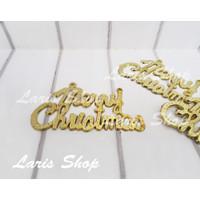 Hiasan Merry Christmas Parcel Hampers Kado Parsel Natal Gold Emas