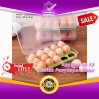 Egg Box Kotak Penyimpanan Telur 15 Pcs – Tempat Telur 15 Lubang 0680