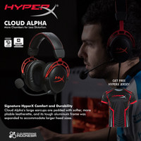 HyperX Cloud Alpha - Original Garansi Resmi - Headset Headphone Gaming