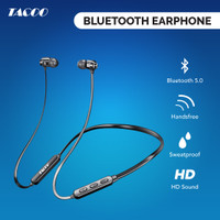 TACOO Sport Bluetooth Earphone Wireless Extra Bass dengan Mikrofon