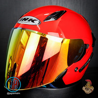 INK HELM METRO2 SOLID ++ IRIDIUM | RED GLOSSY | + SPOILER METRO 2