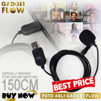TERMURAH Mic Microphone Clip On USB PC Laptop Zoom Online Meeting