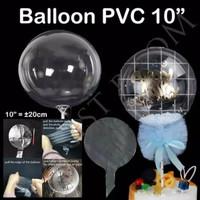 BALON PVC BOBO MERAH 10 INCH / BALON TRANSPARAN / BALON PVC TRANSPARAN