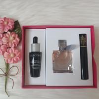 Lancome Gift Set La Vie Est Parfum+Advanced Genifique+Noir Mascara - Box Pink