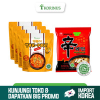 Paket Hemat 4 Tokpoki + Nongshim Shin Ramyoen Halal Korea
