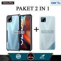 Aladoy Case Realme Narzo 20 Shockproof Transparent Casing + Garskin