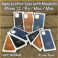Leather Case iPhone 12 Pro Max Mini with MagSafe Apple Original Casing