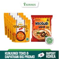 Paket Hemat 4 Tokpoki + Nongshim Neoguri udon Halal Korea