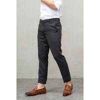 Houseofcuff Celana Ankle / Cropped Pants Slimfit formal Sirwal Abu tua - 37