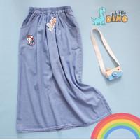 Little Dino Rok Anak Jeans Unicorn - Light Blue, M