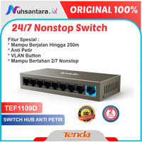 Tenda TEF1109D Switch Hub 8 Port Anti Petir 10/100 Mbps