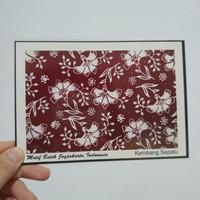 Kartu Pos Mint - Motif Batik Kembang Sepatu