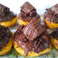 Donat Ubi - Royal Brownie topping brownies 1pack isi 6 - Maxi