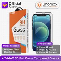 Tempered Glass iPhone 12/12 Pro/12 mini/12 Pro Max T-MAX 3D Full Cover