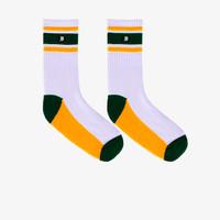 Geoff Max Official - Freya Green Yellow   Medium Socks   Kaos Kaki