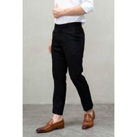 Houseofcuff Celana Ankle / Cropped Pants Slimfit Sirwal Hitam formal