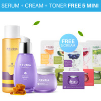 Bundle Serum + Toner + Cream Free 5 Mini Cream