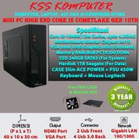 Komputer MINI PC Rakitan [Core i5, SSD, HDD] Terbaru High END Office