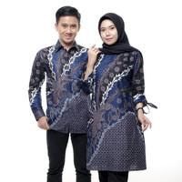 couple batik terbaru tunik n kemeja lengan panjang m -xxl