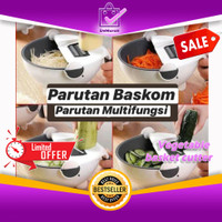 Parutan Baskom Serbaguna Multifungsi - Vegetable Basket Cutter 0684