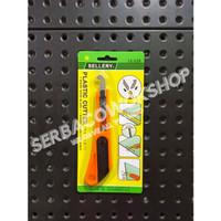 Sellery Plastic Cutter Kater Acrylic 12-228 Pisau Cutter Termurah